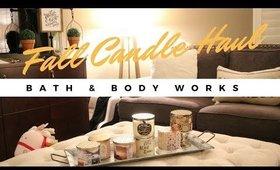 🍁BATH & BODY WORKS FALL CANDLE HAUL!🍁