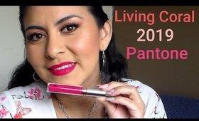 Living Coral Color del año Pantone Makeup Tutorial