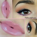 Pop of color with pink lips