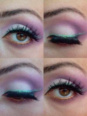 I did my sister's make up. I love her eyes.