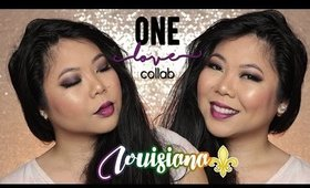 #ONELOVE COLLAB ⚜ LOUISIANA | PURPLE MONOCHROME 💄 NYE GET READY WITH ME! | MakeupANNimal