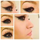 Teal winged eyeliner