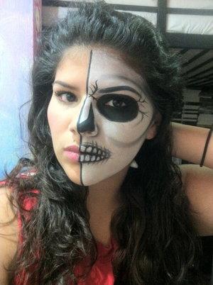 half skull and half human