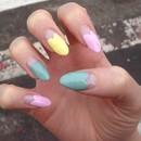 Pastel Hearts Nails