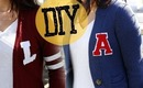 DIY Easy Varsity Letter Sweater