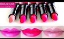 Bourjois Paris Rouge Edition Lipstick Swatches 5 colors Review
