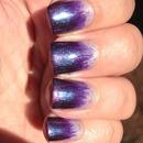 Dip Dye Violet Nails