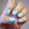Teal Tribal Nails