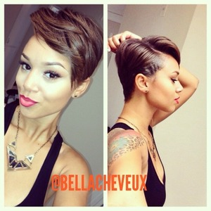 Short cut, relaxer and style