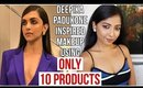 DEEPIKA PADUKONE Inspired Makeup CANNES 2018 Using only 10 Products | Easy Makeup | Stacey Castanha