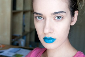 blue lips - using OCC liptars