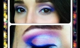 Pink and Purple Makeup Tutorial with the ELF Geometric Palette