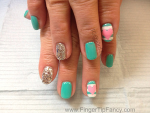 FOR DETAILS GO TO:   http://fingertipfancy.com/stripes-hearts-turquoise-nails