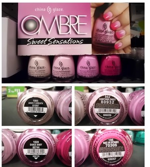 China Glaze: Angel's Breath China Glaze: Something Sweet China Glaze: Dance Baby China Glaze: Make An Entrance
