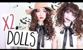Porcelain & Dead Dolls Hair Makeup Halloween Tutorial | Cerinebabyyish