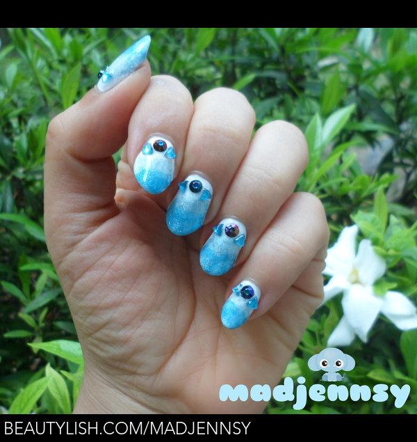 Multi Seasonal Nail Art For Winter Summer Madjennsy Ns