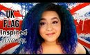 UK Flag Inspired Makeup Tutorial (NoBlandMakeup)