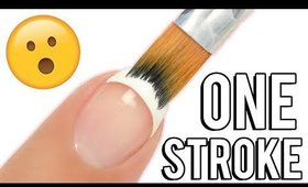 1-STROKE French Tip Nail Art Brush! Does it REALLY work?