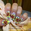 Bold Maxi Flower Summer Nail Design