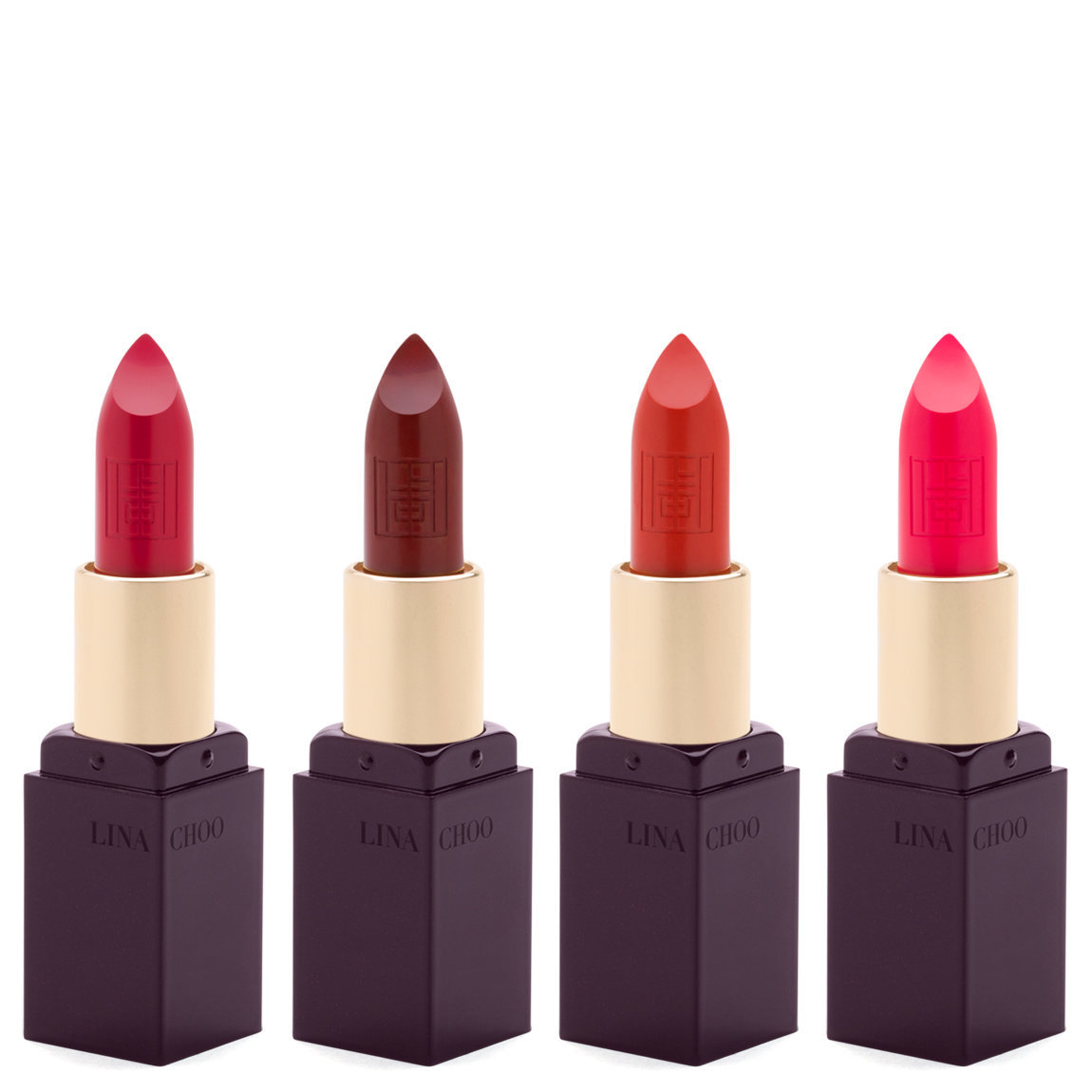 LINA CHOO The Great Artist Velvet Matte Mini Lipstick Set product smear.