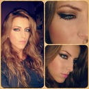 Brown smokey makeup for blue eyes. :)