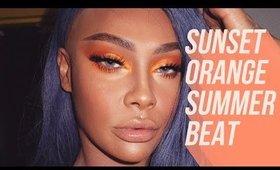 COLOUR POP ORANGE SUNSET MAKEUP | SONJDRADELUXE