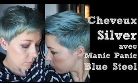 Cheveux Silver avec Manic Panic Blue Steel
