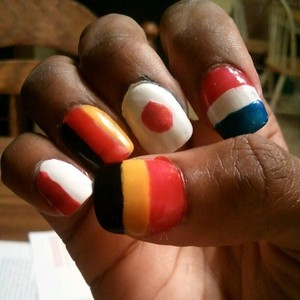 Flags of Belgium, France, Japan, Germany & Indonesia