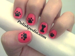 Who else loves dogs?  Watch The Video Tutorial @ http://polishpedia.com/dog-paw-nail-art.html