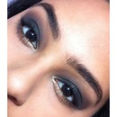 NYE smoky eye with a touch of Gold