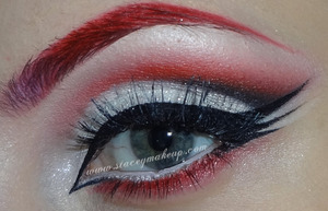 """Red cut crease with triple wing VideoCollab: Recreation of """"TheEmanueleCastelli"""" look"""