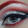 Red cut crease with triple wing