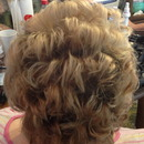 VERY Short hair up do Bridal Looks By Christy Farabaugh