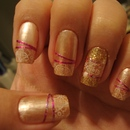 Nails and stamping with a little tape