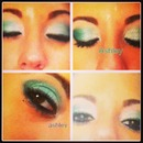 Emerald Green Eye shadow look