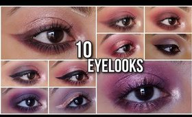 10 EYE MAKEUP LOOKS Using 1 Palette PAC Ultimate Shadowbox MAUVE | Stacey Castanha