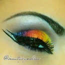 Rainbow Makeup Look.