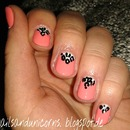 coral with white triangle and leo print