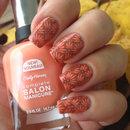 Sally Hansen Tahitian Sunset & Stamping
