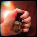 Half moon glitter nails!