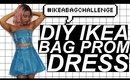 I MADE A PROM DRESS FROM IKEA BAGS | #ikeabagchallenge