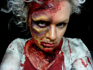 Hungry - Zombie Marie Antoinette Inspired Look. Brisbane Zombie Walk 2011.