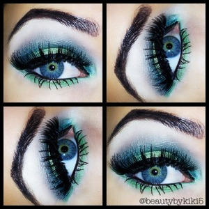 I love green eyeshadow with blue eyes!!