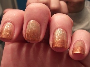 Copper to gold gradient nails