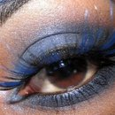 Blue lashes!