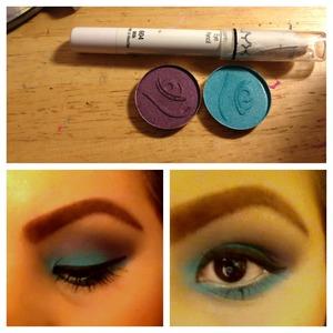 Products I use Nyx pencil elf eyeshodows
