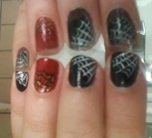 Halloween Nails Mirror image