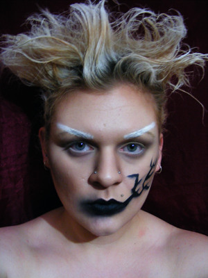 Avant-Garde Makeup Titled: Dead Trees 2010