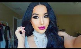 Inverted Liner + Berry Lip Makeup Tutorial