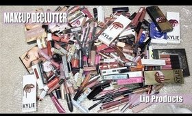 HUGE MAKEUP DECLUTTER - LIP PRODUCTS   Lipsticks, Lipliners, Lipgloss & Lip Care